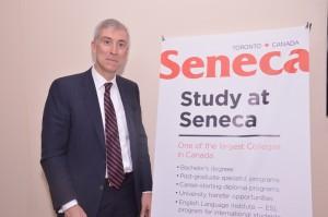 David Agnew president of seneca college at delhi press meet