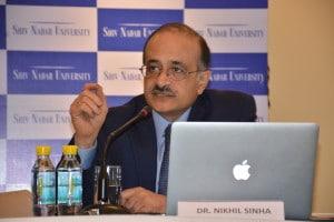 Nikhil Sinha, Founding Vice Chancellor, Shiv Nadar University