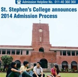 St.Stephen's admission procedure