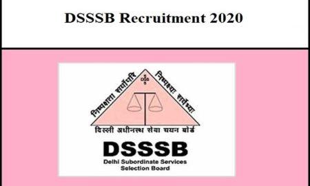 DSSSB Teacher Recruitment 2020