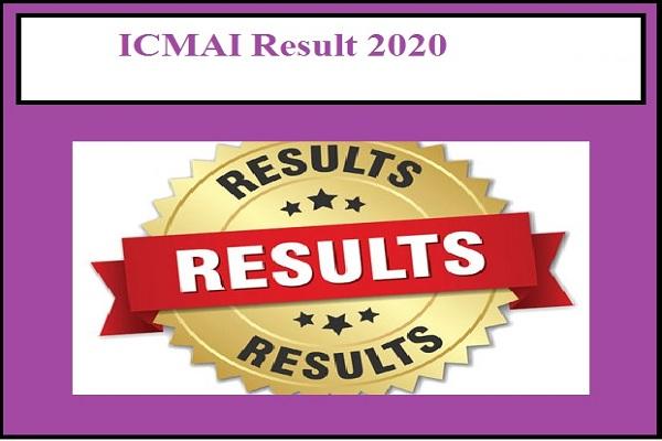 ICMAI Result 2020