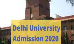 DU admission 2020-21