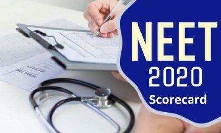 NEET PG 2020 scorecard