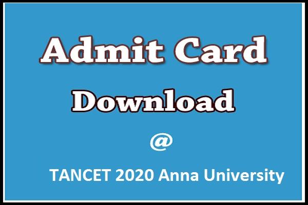 admit card TANCET 2020
