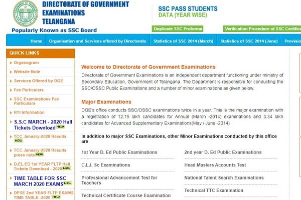 TS BSE Class 10 Admit Card