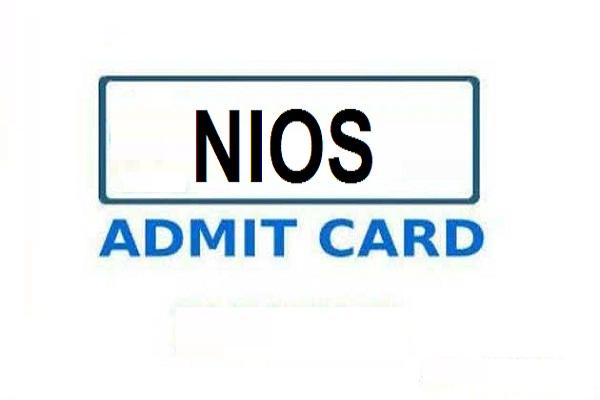 NIOS admit card 2020
