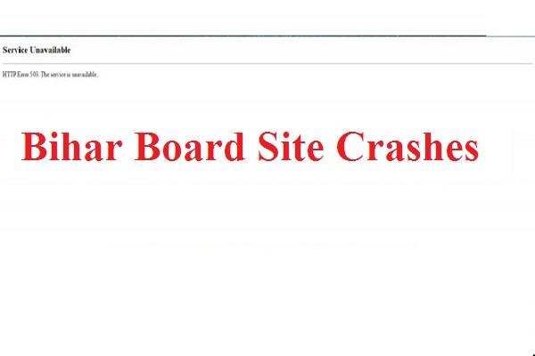 Bihar Board site crashes