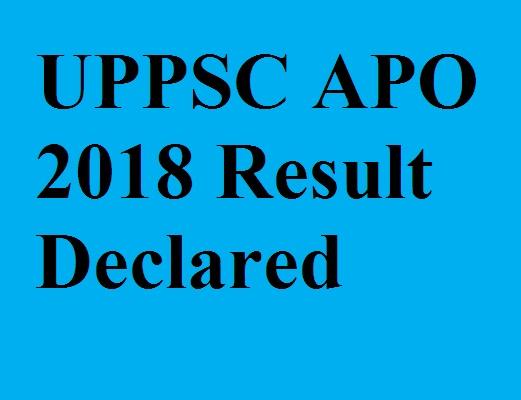 UPPSC APO 2018 result
