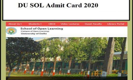 DU SOL admit card
