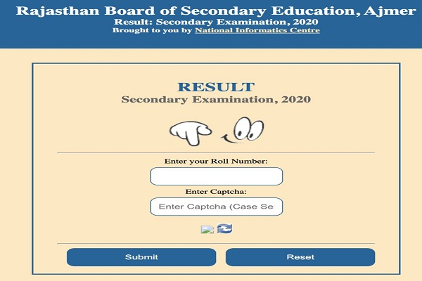 RBSE Class 10 Results 2020