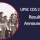 UPSC CDS II 2019 Result