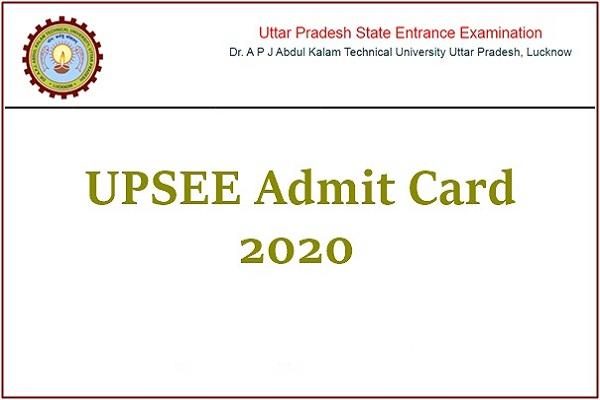 UPSEE 2020 admit card released