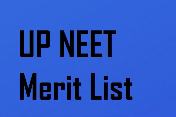 UP NEET merit list 2020