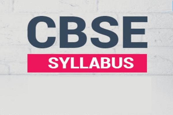 CBSE classes 9-12 syllabus