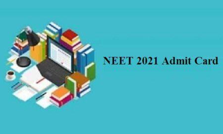 NEET UG 2021 admit cards